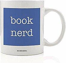 Lustiger Buchliebhaber Kaffeetasse Geschenkidee