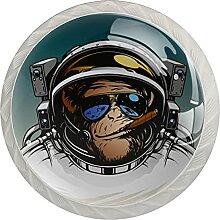 Lustiger Cartoon-Weltraum-Astronaut Gorilla