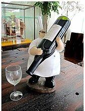 Lustiger fetter Chef Figurine Weinregal Dekorative