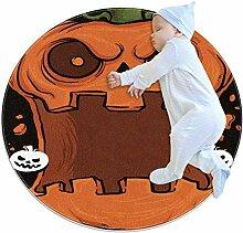 Lustiger Halloween-Teppich mit offener Öffnung,