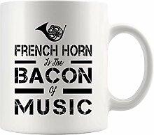 Lustiger Kaffeebecher Bierbecher French Horn is