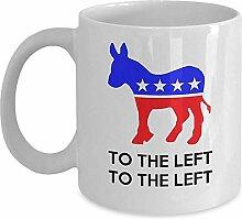 Lustiger liberaler Becher - nach links nach links!