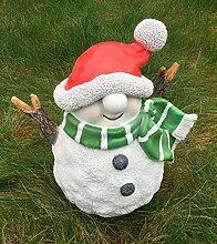 Lustiger Schneemann Figur Dekofigur Weihnachten