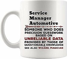 Lustiger Service Manager Automotive Mug Geschenk -