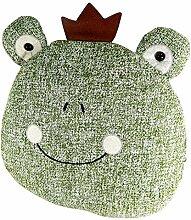 lustiger Türstopper Froschkönig grün Frosch mit Krone Dekofigur Dekoration 24cm