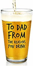 "Lustiges Bierglas ""To Dad From The Reasons You"