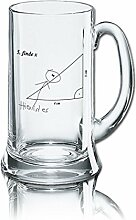 Lustiges Bierglas Bierkrug Icon 0,5L - Dekor: 5.