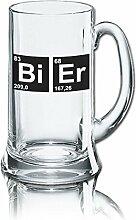 Lustiges Bierglas Bierkrug Icon 0,5L - Dekor: Bi -