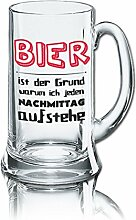 Lustiges Bierglas Bierkrug Icon 0,5L - Dekor: BIER