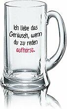 Lustiges Bierglas Bierkrug Icon 0,5L - Dekor: Ich