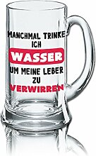 Lustiges Bierglas Bierkrug Icon 0,5L - Dekor: