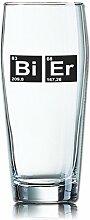Lustiges Bierglas Willibecher 0,5L - Dekor: Bi - Er