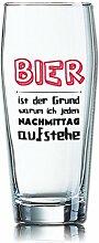 Lustiges Bierglas Willibecher 0,5L - Dekor: BIER