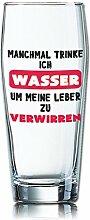 Lustiges Bierglas Willibecher 0,5L - Dekor: