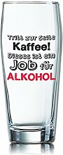 Lustiges Bierglas Willibecher 0,5L - Dekor: Tritt