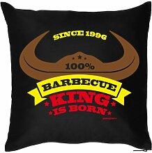 Lustiges Fun Geburtstagsgeschenk zum 18. für Grill-Fans: Kissenbezug ohne Füllung: Barbeque King since 1996