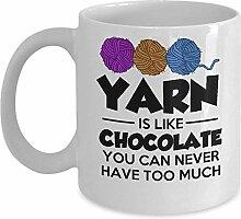 Lustiges Häkel-Strickgeschenk – Yarn is like