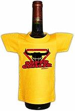 lustiges Mini T-Shirt Flaschen Shirt Geschenk Männer grillen Partygag in gelb Super Zum Geburtstag : )