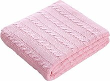 Lutanky Cozy Baumwolle Kabel Knit Überwurf Decke
