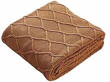 lutanky Luxus Kabel Knit Überwurf Decke