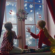 LUTER Schneeflocken Deko Weihnachtsdeko Aufkleber