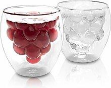 LUTOPIC Doppelwandige Gläser Set [Thermo-Glas mit