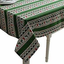 LuuBoes Tischdecke Weihnachtliche Gestreift