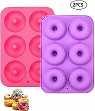 LUUFAN 2er Pack Food Grade Silikon-Donut-Backform,