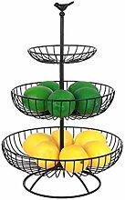 luukiy Obst Etagere 3 Tier Haushalt Obst