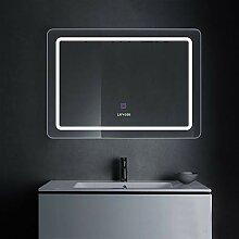 LUVODI Badspiegel LED Beleuchtung Wandspiegel