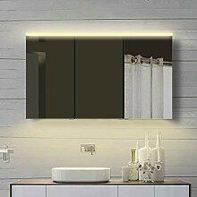 Lux-aqua Aluminium Badezimmer Spiegelschrank mit