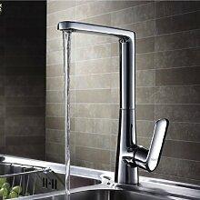 Lux-aqua Design Armatur für Küche Waschtisch mit (NEOPERL Perlator) ZQ56328C Küchenarmatur, hoher Auslauf