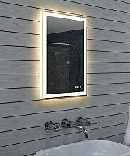 Lux-aqua Design Badezimmerspiegel mit Dimmer,