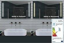Lux Aqua Design Badezimmerspiegel mit Kalt/Warmlicht - 100x60cm