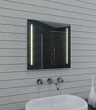 Lux Aqua Design Badezimmerspiegel mit Kalt/Warmlicht - 60x60cm