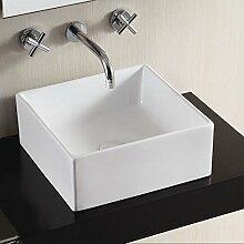 Lux-aqua Design Handwaschbecken mit extra dünner Keramik Aufsatzwaschbecken Waschbecken Handwaschbecken 4169