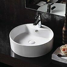 Lux-aqua Design Handwaschbecken mit extra dünner Keramik Waschbecken Handwaschbecken Aufsatzbecken 4104