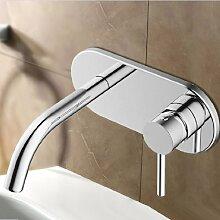 Lux-aqua Waschtisch Armatur Wasserhahn mit (NEOPERL Perlator) zur Wandmontage FM14009C