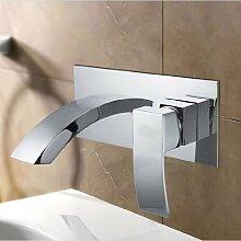 Lux-aqua Waschtisch Badewannenarmatur Armatur Wasserhahn zur Wandmontage CA14160C