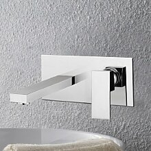 Lux-aqua Waschtisch Eckig Armatur Wasserhahn zur Wandmontage VM14007C