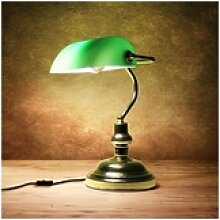 lux.pro Tischleuchte, Colonia Bankerlampe