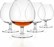 Luxbe Brandy & Cognac Kristallglas Snifter, 4
