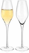 Luxbe - Champagner-Kristallgläser, 2er-Set –
