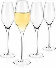 Luxbe - Champagner-Kristallgläser, 4er-Set –