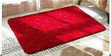 Luxbon Teppiche Stopp Antirutschmatte Teppichunterlage Fußmatte Stufenmatten Treppenmatten Badematte Bettvorleger Rot 60x90 cm