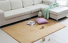 Luxbon Wasseraufnahme Teppich Stopp Antirutschmatte Badteppich Fußmatten Boden Sofa Matte Kamel 100 x 120 cm