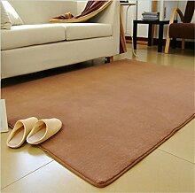 Luxbon Wasseraufnahme Teppich Stopp Antirutschmatte Badteppich Fußmatten Boden Sofa Matte Kaffee 100 x 120 cm