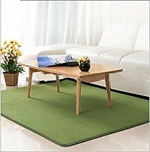 Luxbon Wasseraufnahme Teppich Stopp Antirutschmatte Badteppich Fußmatten Boden Sofa Matte Grün 50 x 80 cm