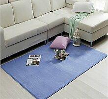 Luxbon Wasseraufnahme Teppich Stopp Antirutschmatte Badteppich Fußmatten Boden Sofa Matte Blau 50 x 80 cm