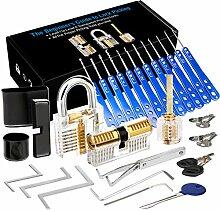 Luxebell Lock Picking, 33 PCs Dietrich Set mit 3